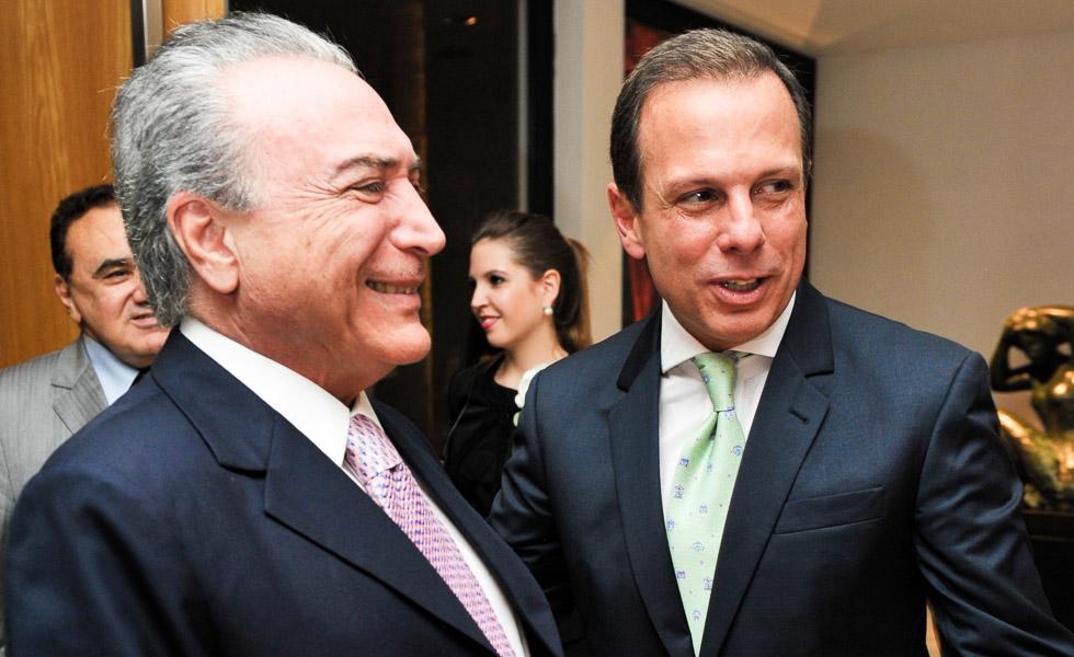 Michel Temer e João Doria Jr